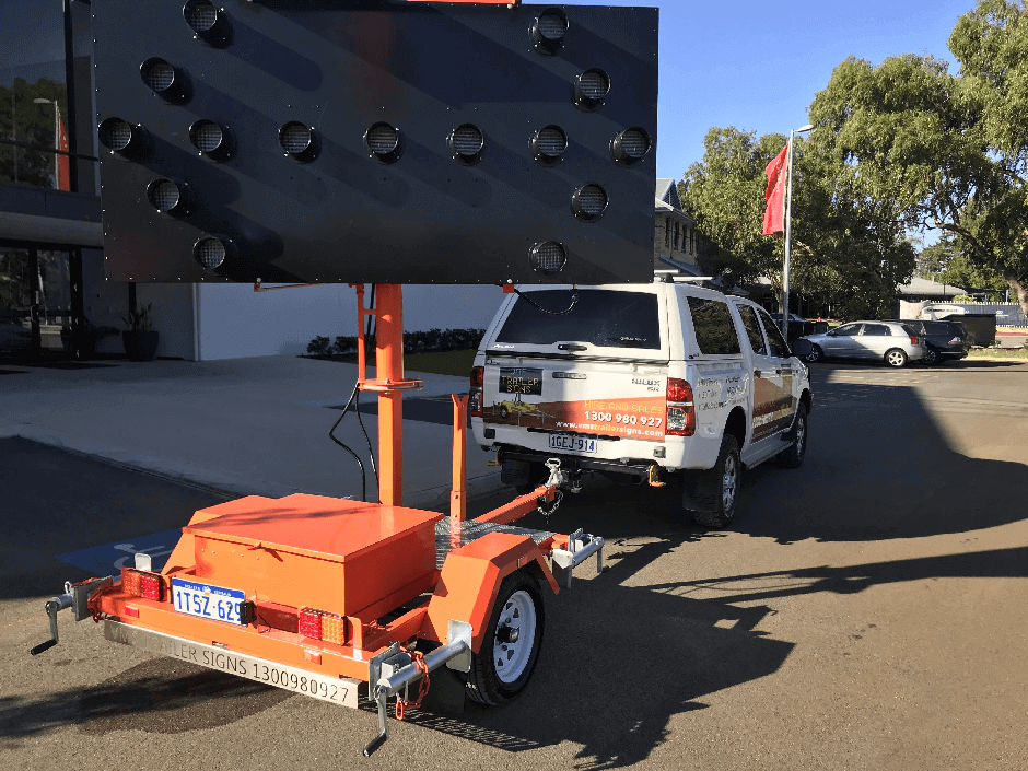 Solar Powered Arrowboard Trailers