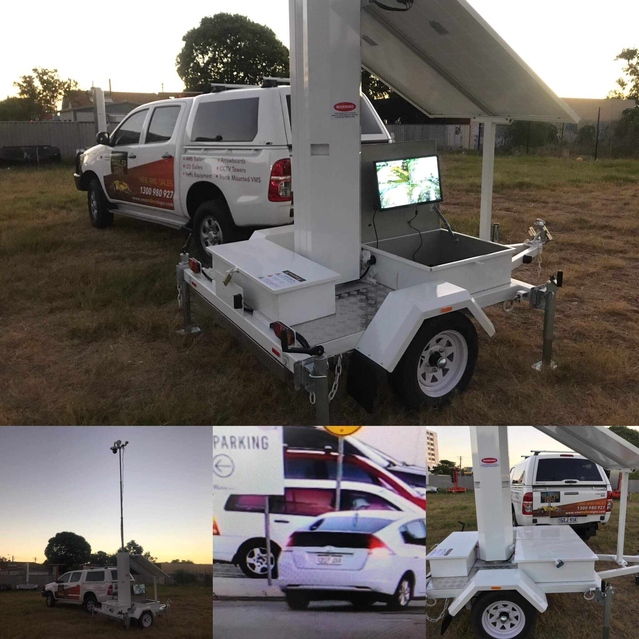 Solar Powered CCTV Trailer Australia
